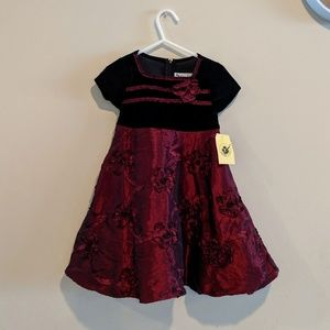🍍 3/$10 Red and black toddler dress 3T NWT